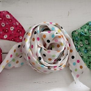 Accessories - Polka Dot Silk Scarf